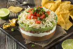 Homemade Mexican 7 Layer Dip Stock Photography