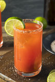 Homemade Michelada with Beer and Tomato Juice Royalty Free Stock Photo