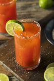 Homemade Michelada with Beer and Tomato Juice Stock Photography