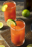 Homemade Michelada with Beer and Tomato Juice Royalty Free Stock Photography