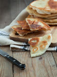 Homemade milk flatbread Stock Photos