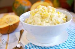 Homemade millet porridge with pumpkin Stock Photo