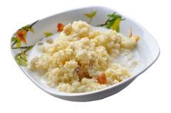 Homemade millet porridge with raisins Stock Photography