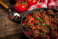 Homemade minced beef meatballs stock photos
