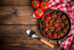 Homemade minced beef meatballs royalty free stock photo
