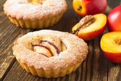 Homemade mini peach cake Royalty Free Stock Photography