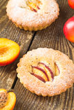 Homemade mini peach cake Royalty Free Stock Images