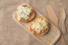Homemade mini pizza buns Royalty Free Stock Images