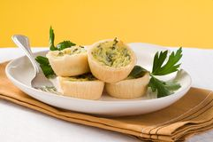 Homemade Mini Quiche Royalty Free Stock Images