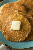 Homemade Mini Silver Dollar Pancakes Stock Image