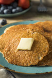 Homemade Mini Silver Dollar Pancakes Stock Photography