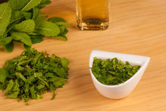Homemade  mint sauce Royalty Free Stock Photography