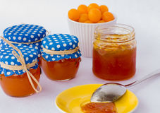 Homemade mirabelle jam Royalty Free Stock Photos