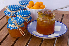Homemade mirabelle jam Royalty Free Stock Images
