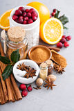 Homemade mix of spices in a jar Royalty Free Stock Images