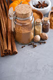 Homemade mix of spices in a jar Stock Photos
