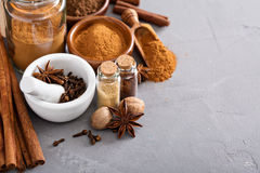 Homemade mix of spices in a jar Royalty Free Stock Photo
