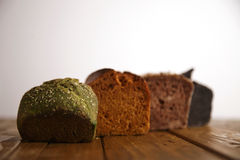 Homemade mixed breads presented for sale Stock Photography