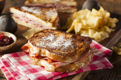 Homemade Monte Cristo Sandwich Royalty Free Stock Photography