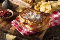 Homemade Monte Cristo Sandwich Stock Photo