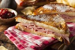Homemade Monte Cristo Sandwich stock photos