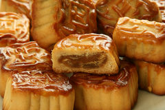 Homemade Moon Cake Royalty Free Stock Photography