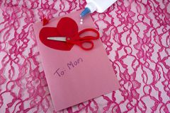 Homemade Mothers Day Card Stock Photos