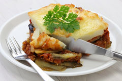 Homemade moussaka Royalty Free Stock Photo