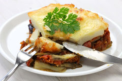 Homemade moussaka Stock Images