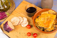 Homemade moussaka, Greek cuisine Royalty Free Stock Photo