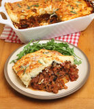 Homemade Moussaka Meal Stock Photos