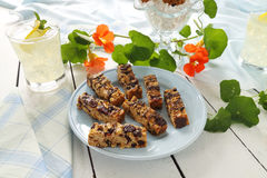 Homemade Muesli Bars Royalty Free Stock Images