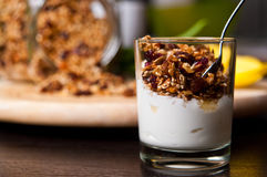 Homemade muesli Stock Photos