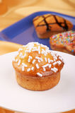 Homemade muffin decorated with sugar grains Royalty Free Stock Photo