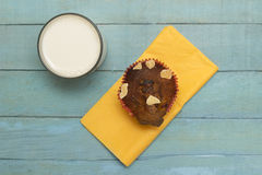Homemade Muffin and Milk Royalty Free Stock Images