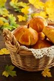 Homemade muffin pumpkins Stock Image
