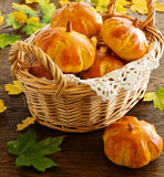 Homemade muffin pumpkins Royalty Free Stock Photography