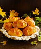 Homemade muffin pumpkins Royalty Free Stock Image