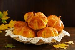 Homemade muffin pumpkins Stock Photography