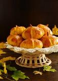 Homemade muffin pumpkins Royalty Free Stock Photo