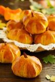 Homemade muffin pumpkins Stock Photos