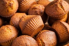 Homemade Muffins Closeup Royalty Free Stock Photography