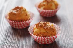 Homemade muffins with ham and cheese Stock Photos