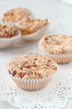 Homemade muffins with mandarins Stock Photography