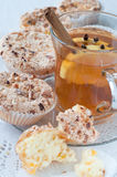 Homemade muffins with mandarins Royalty Free Stock Photography