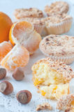 Homemade muffins with nuts Stock Image
