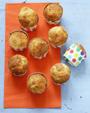 Homemade muffins in paper cups Royalty Free Stock Image