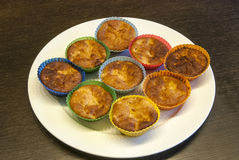 Homemade muffins on plate Stock Image