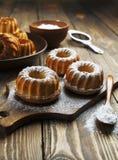 Homemade muffins powdered sugar Stock Image