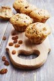 Homemade muffins with raisins Stock Image